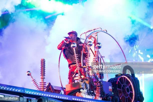 Travis Scott performs during the Astroworld Festival at NRG Stadium on November 9 2019 in Houston Texas