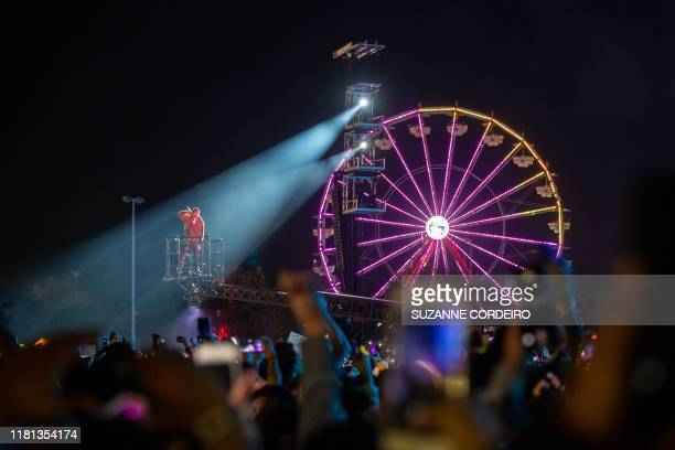 Travis Scott performs during the Astroworld Festival at NRG Stadium on November 9 2019 in Houston Texas