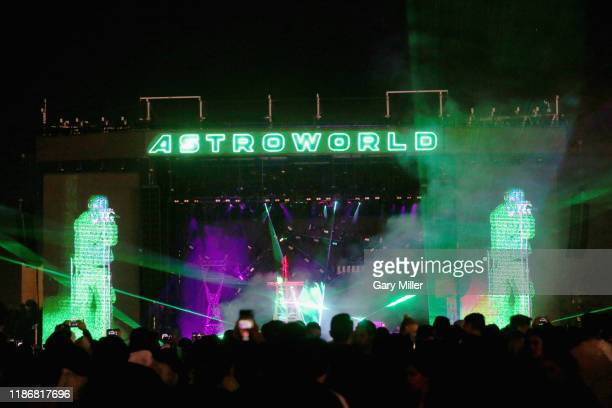 Travis Scott performs in concert during his second annual Astroworld Festival at NRG Park on November 9 2019 in Houston Texas