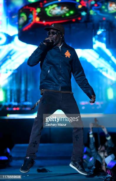 Travis Scott performs onstage during Day 1 of the 2019 Rolling Loud Festival at Citi Field on October 12 2019 in New York City
