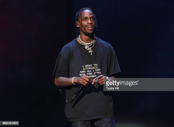 Travis Scott performs onstage during Day 2 of 2018 Governors Ball Music Festival at Randall's Island on June 2 2018 in New York City