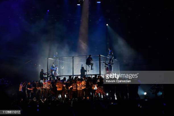Travis Scott performs onstage during the 61st Annual GRAMMY Awards at Staples Center on February 10 2019 in Los Angeles California