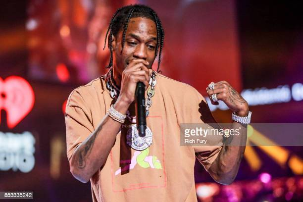 Travis Scott performs onstage during the iHeartRadio Music Festival at TMobile Arena on September 23 2017 in Las Vegas Nevada
