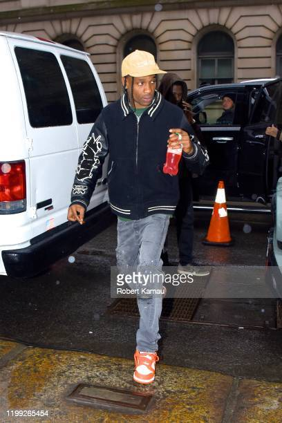 Travis Scott seen out and about in Manhattan on February 6, 2020 in New York City.