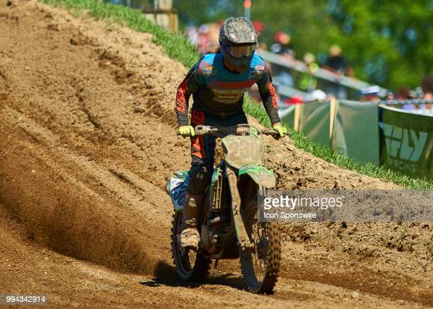 Travis Sewell of Team Sportland 2 in action during the 2018 Red Bull RedBud National 450MX races on July 7 2018 at RedBud MX Tack in Buchanan Michigan