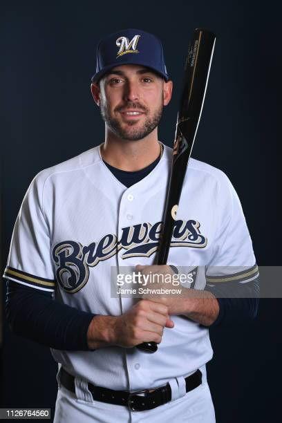 Travis Shaw of the Milwaukee Brewers poses during the Brewers Photo Day on February 22 2019 in Maryvale Arizona