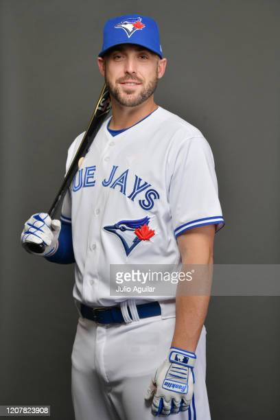 Travis Shaw of the Toronto Blue Jays poses during Photo Day at TD Ballpark on February 21, 2020 in Dunedin, Florida.