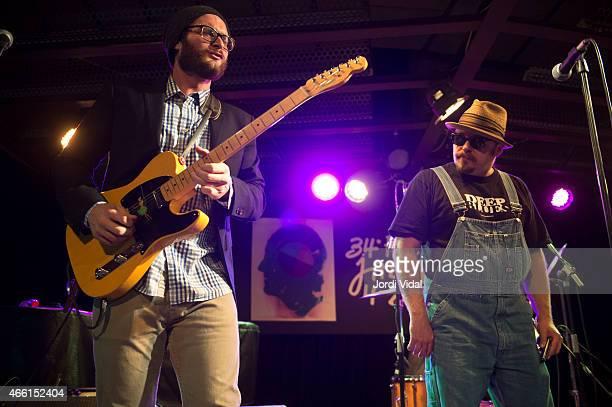 Travis Swanson and John Nemeth of John Nemeth Band perform on stage at Nova Jazz Cava on March 13, 2015 in Terrassa, Spain.
