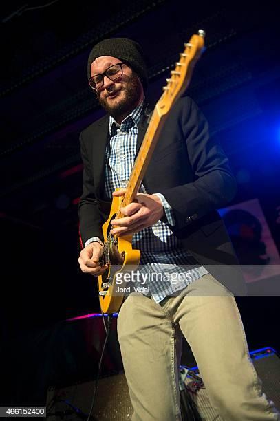 Travis Swanson of John Nemeth Band performs on stage at Nova Jazz Cava on March 13, 2015 in Terrassa, Spain.