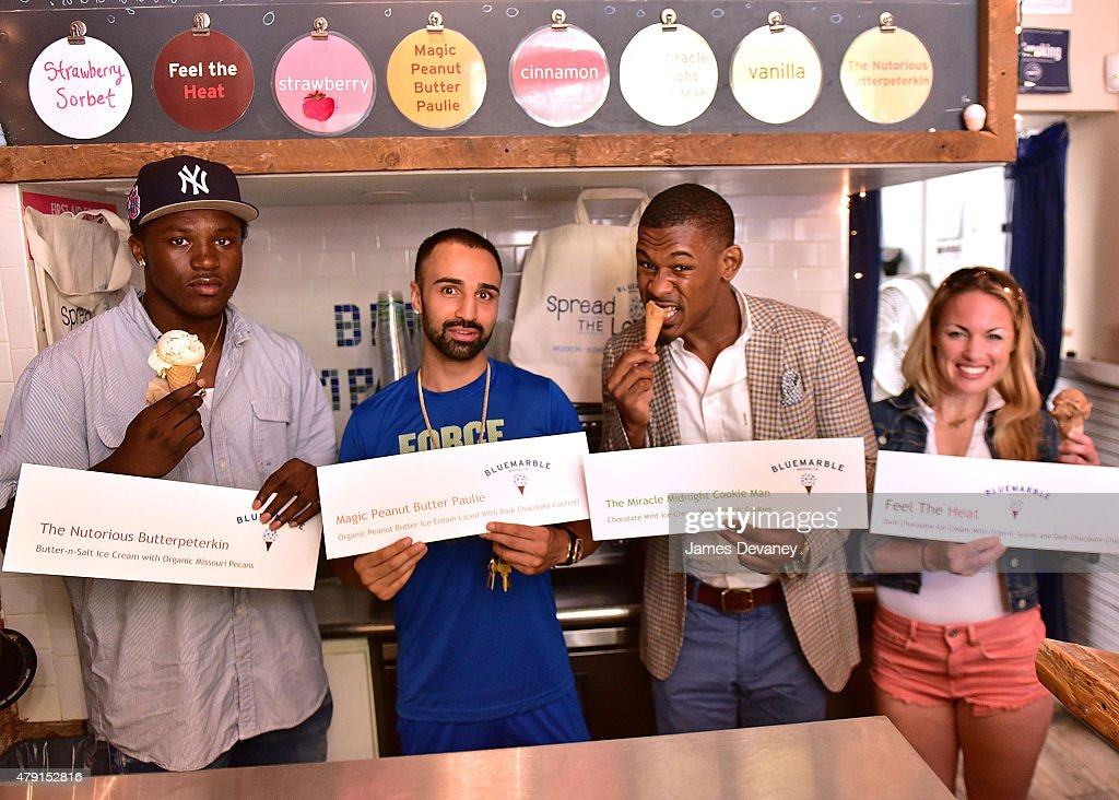 Paulie Malignaggi, Daniel Jacobs, Heather Hardy And Travis Peterkin Celebrate National Creative Ice Cream Flavor Day