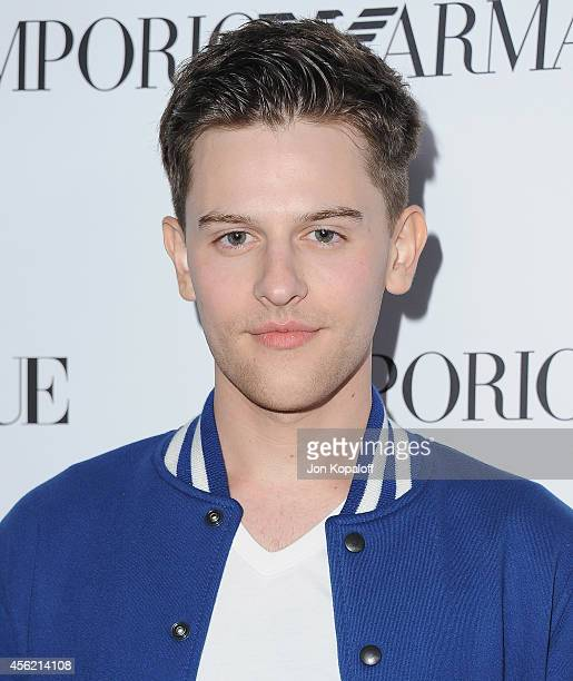 Travis Tope arrives at the Teen Vogue Young Hollywood Party on September 26, 2014 in Los Angeles, California.