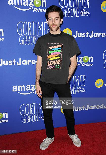 Travis Tope attends the Just Jared fall fun day on October 24, 2015 in Los Angeles, California.