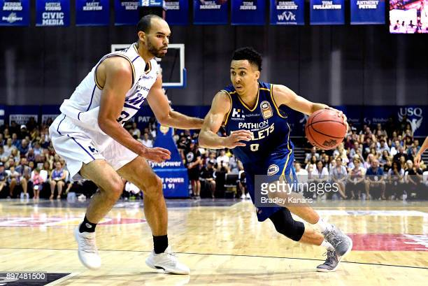 Travis Trice of the Bullets drives to the basket during the round 11 NBL match between the Brisbane Bullets and the Sydney Kings at Brisbane...