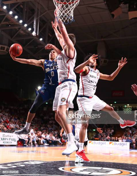 Travis Trice of the Bullets drives to the basket during the round eight NBL match between the Adelaide 36ers and the Brisbane Bullets at Titanium...