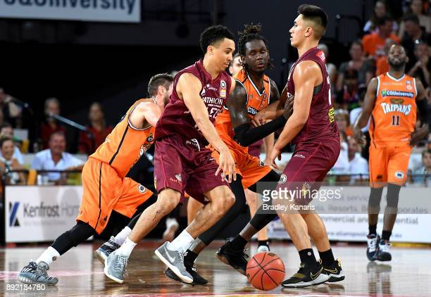Travis Trice of the Bullets in action during the round 10 NBL match between the Cairns Taipans and the Brisbane Bullets at Cairns Convention Centre...