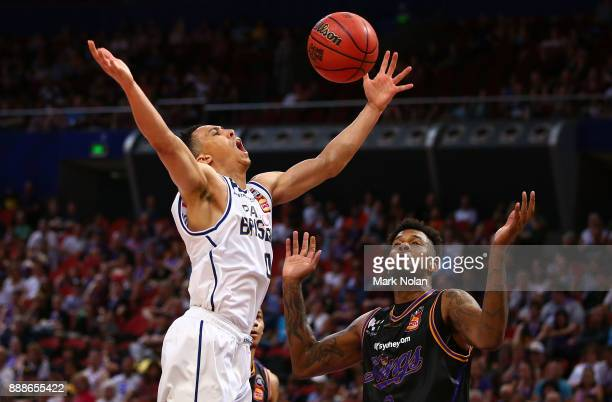 Travis Trice of the Bullets loses control of the ball during the round nine NBL match between the Sydney Kings and the Brisbane Bullets at Qudos Bank...