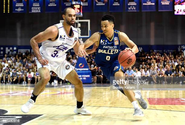 Travis Trice of the Bullets takes on the defence during the round 11 NBL match between the Brisbane Bullets and the Sydney Kings at Brisbane...