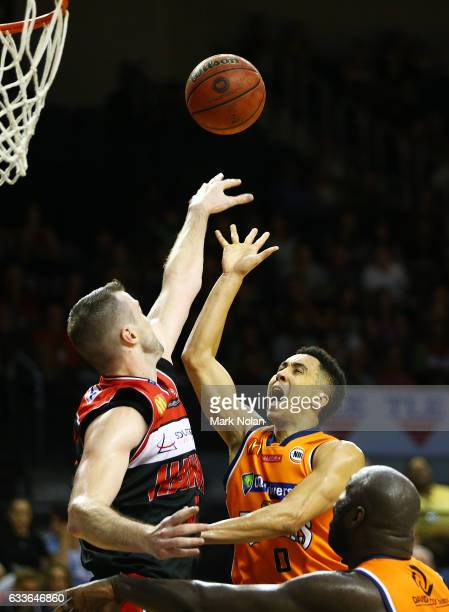 Travis Trice of the Taipans shoots for the basket during the round 18 NBL match between the Illawarra Hawks and the Cairns Taipans at the Wollongong...