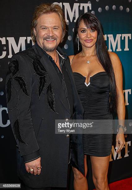 Travis Tritt and wife Theresa Nelson attend CMT Artists Of The Year 2013 on December 3 2013 in Nashville Tennessee