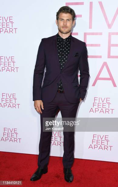 Travis Van Winkle attends the premiere of Lionsgate's Five Feet Apart at Fox Bruin Theatre on March 07 2019 in Los Angeles California