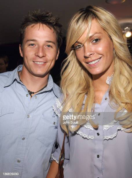 Travis Wade and Jasmine Dustin during Ultimatebetcom Kari Feinstein and Mike McGuiness Host Celebrity Poker Tournament to Honor Clifton Collins Jr's...