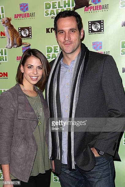 Travis Willingham and guest attend 'Delhi Safari' Los Angeles premiere at Pacific Theatre at The Grove on December 3 2012 in Los Angeles California