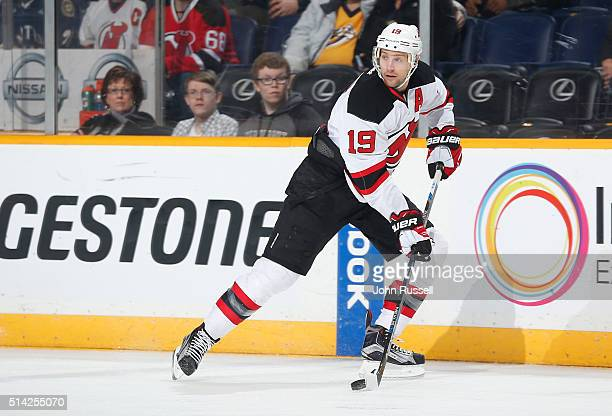 177aa85fe Travis Zajac of the New Jersey Devils skates against the Nashville  Predators during an NHL game