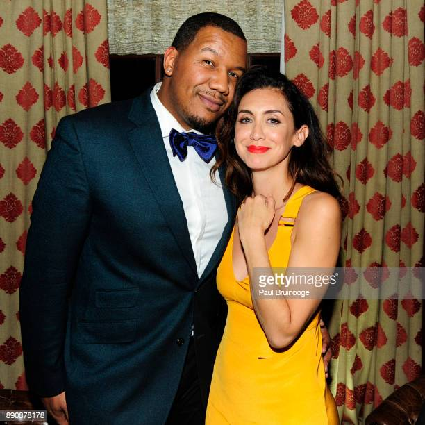 Travon Free and Mozhan Marno attend the New York premiere of 'Phantom Thread' After Party at Harold Pratt House on December 11 2017 in New York City