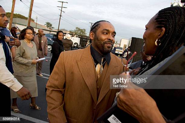 Travon Williams son of Stanley 'Tookie' Williams at the funeral services for his father at Bethel AME Church in South Central Los Angeles Approx 2000...