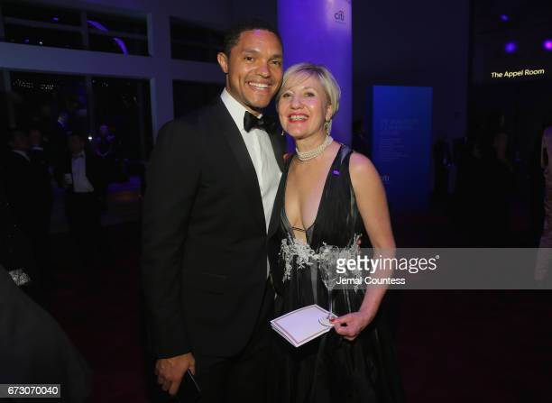 Travor Noah and Glenda Gray attend the 2017 Time 100 Gala at Jazz at Lincoln Center on April 25 2017 in New York City