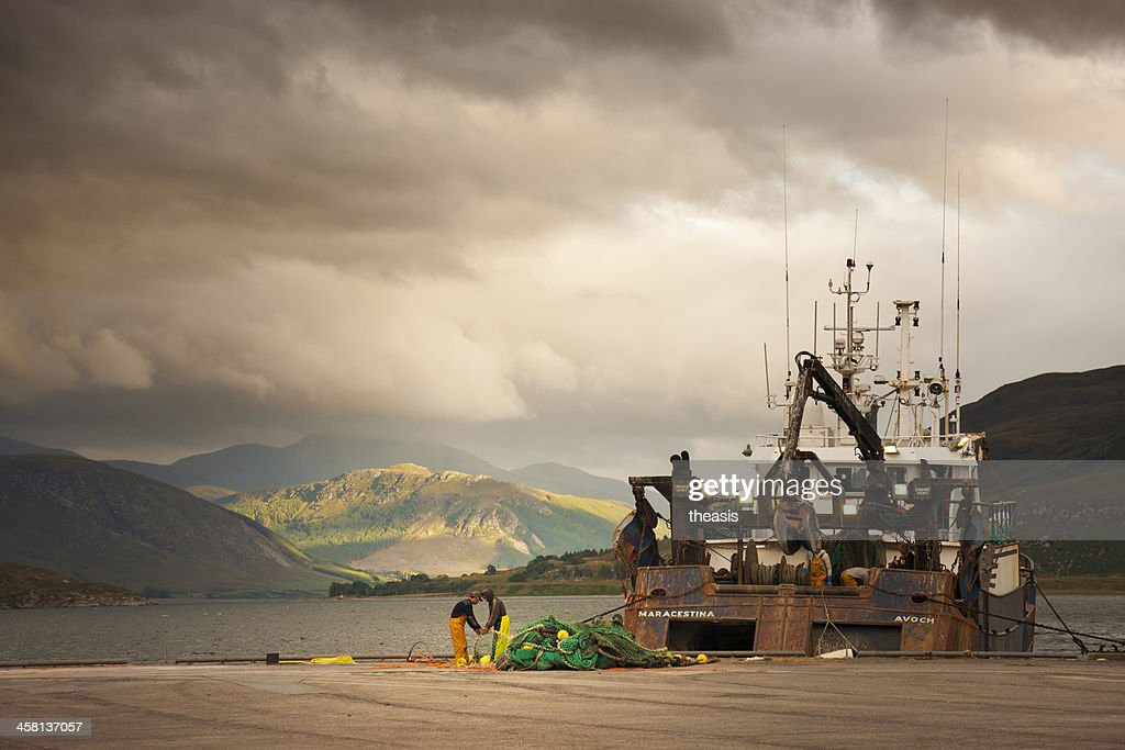 Trawler In Ullapool Harbour : Stock Photo