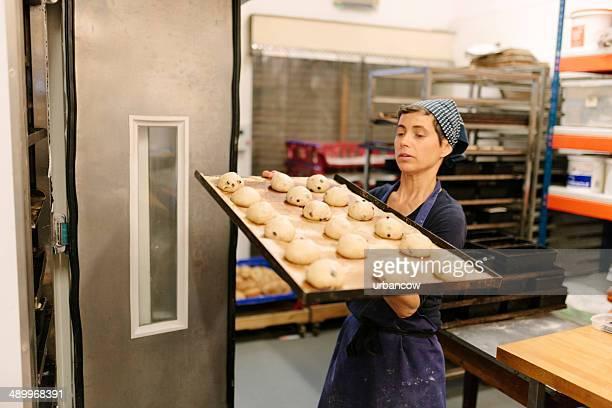 Tabuleiro de frutos pães