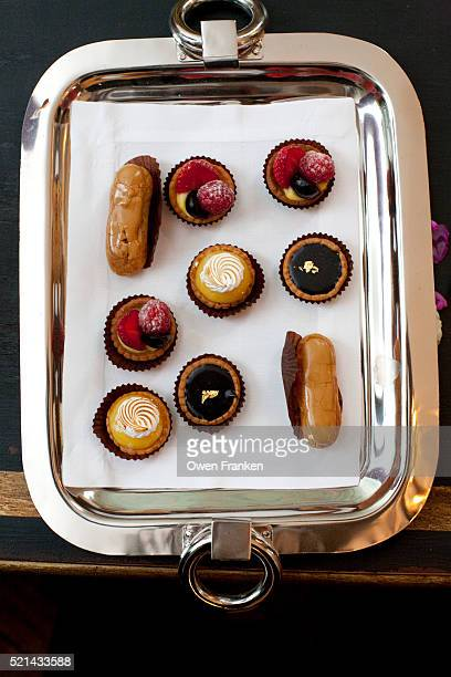 A tray of Petit Fours, French pastries