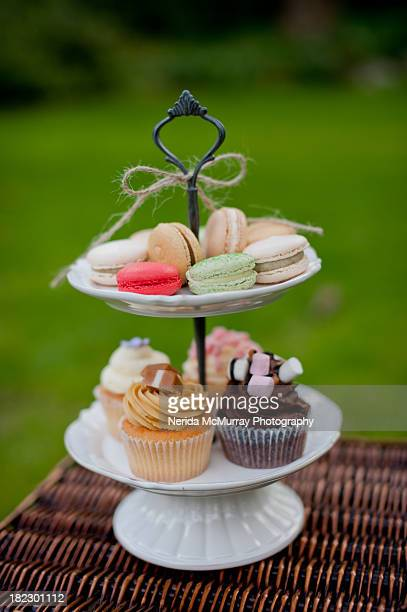 Tray of sweet desserts