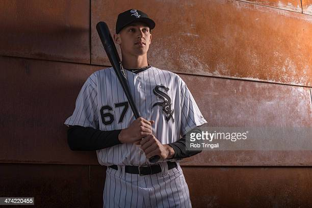 Trayce Thompson of the Chicago White Sox poses for a portrait on photo day at the Glendale Sports Complex on February 22 2014 in Glendale Arizona