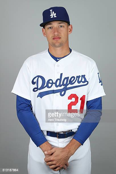 Trayce Thompson of the Los Angeles Dodgers poses during Photo Day on Saturday February 27 2016 at Camelback Ranch in Glendale Arizona