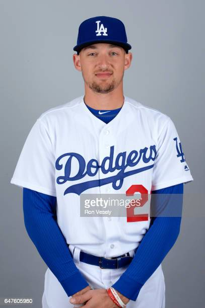 Trayce Thompson of the Los Angeles Dodgers poses during Photo Day on Friday February 24 2017 at Camelback Ranch in Glendale Arizona