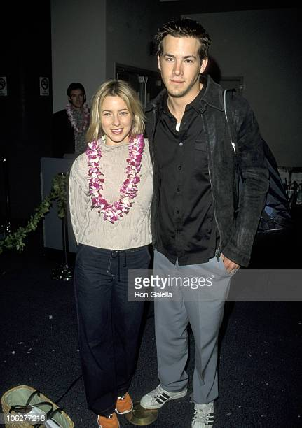 Traylor Howard and Ryan Reynolds during Hawaiian Airlines Launch Ceremony for Direct Service From Los Angeles to Maui at Los Angeles International...