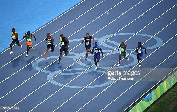 Trayvon Bromell of the United States Akani Simbine of South Africa Justin Gatlin of the United States Jimmy Vicaut of France Usain Bolt of Jamaica...