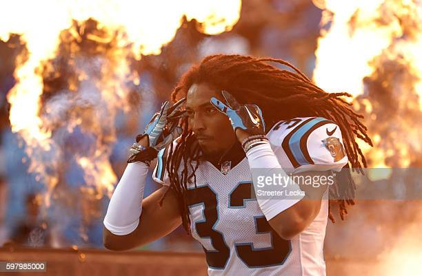 Tre Boston of the Carolina Panthers takes the field prior to their game against the New England Patriots at Bank of America Stadium on August 26 2016...