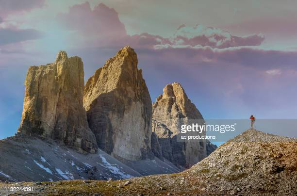 tre cime di lavaredo in south tyrol, italy - トレチーメディラバレード ストックフォトと画像