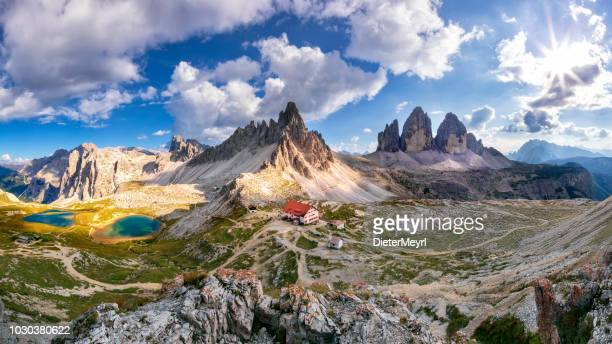 tre cime di lavaredo - xxxl panorama - unesco stock pictures, royalty-free photos & images