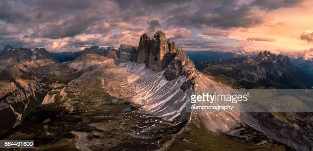 tre cime di lavaredo,dolomite alps, panorama, italy. - dolomites stock pictures, royalty-free photos & images