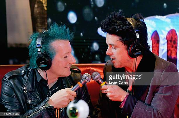 Tre Cool and Billie Joe Armstrong of the band Green Day attend 1067 KROQ Almost Acoustic Christmas 2016 Night 2 at The Forum on December 11 2016 in...