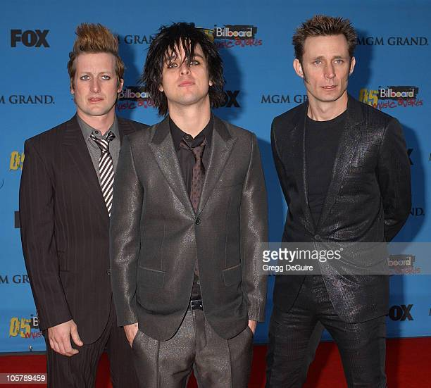 Tre Cool Billie Joe Armstrong and Mike Dirnt of Green Day nominees Artist of the year Group of the year Album of the Year Digital Song of the Year...
