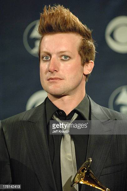 Tre Cool of Green Day winners of Record Of The Year for Boulevard Of Broken Dreams