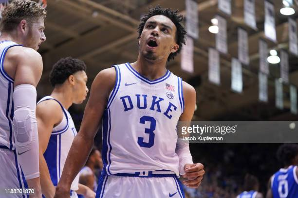 Tre Jones of the Duke Blue Devils during the first half during their game against the Georgia State Panthers at Cameron Indoor Stadium on November...