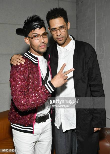 Tre Major and Rashad Haughton attend MAC Cosmetics Aaliyah Launch Party on June 14 2018 in Hollywood California
