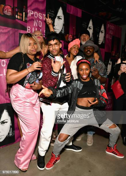 Tre Major, Arnold Turner and friends attend MAC Cosmetics Aaliyah Launch Party on June 14, 2018 in Hollywood, California.