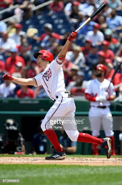 Trea Turner of the Washington Nationals bats against the Tampa Bay Rays at Nationals Park on June 6 2018 in Washington DC